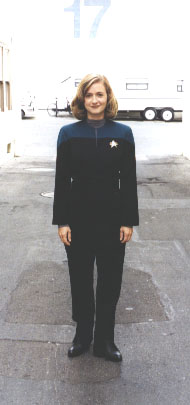 Jen in uniform